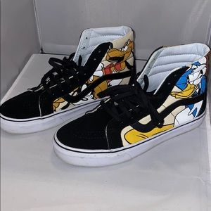 Disney Vans with leather piping
